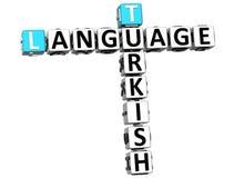 3D Turecki Językowy Crossword Ilustracji