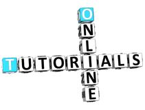 3D Tutorials Online Crossword royalty ilustracja