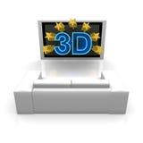 3D TV Fotografía de archivo libre de regalías