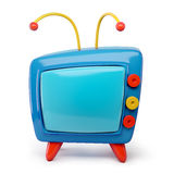 3d Tv cartoon isolated on white. Background Royalty Free Stock Photos