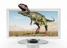 3D TV. Computer generated 3D illustration with a 3D TV Stock Image