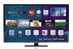 3D TV elegante con los iconos