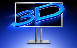 3D TV. Illustration of a 3D TV Royalty Free Stock Photography
