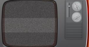 3d TV retra con la pantalla verde 4K stock de ilustración