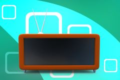 3d TV Set illustration Royalty Free Stock Photo