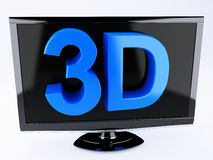 3d tv, technology concept.  white Stock Image