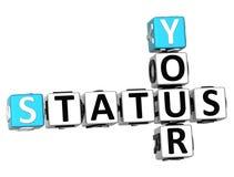 3D Twój statusu Crossword Zdjęcia Stock