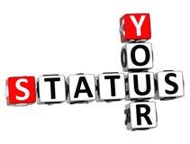 3D Twój statusu Crossword Zdjęcie Stock