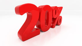 3D twenty percent Stock Photos