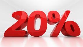 3D twenty percent Royalty Free Stock Images