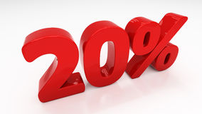 3D twenty percent Stock Photography