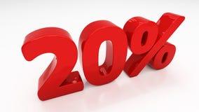 3D twenty percent Stock Photography