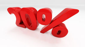 3D twenty percent Stock Photo