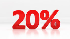 3D twenty percent Stock Images