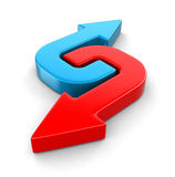 3d Two arrows Royalty Free Stock Images