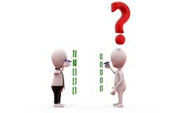 3d two man check list concept Royalty Free Stock Photo