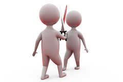3d two man with sword concept Stock Photography