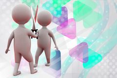 3d two man with sword  illustration Royalty Free Stock Photos