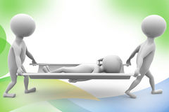 3d Two 3d carrying the patient illustration Royalty Free Stock Photo