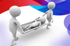 3d Two 3d carrying the patient illustration Royalty Free Stock Photos