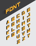 3d type font. Isometric 3d type font set. Vector illustration Royalty Free Stock Photography