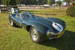 D-Type véhicule de jaguar d'exposition Image stock