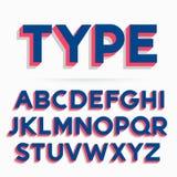 3d typeface font and alphabet design. 3d typeface font and alphabet vector design Royalty Free Stock Photography