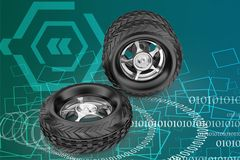 3d tyres illustration Royalty Free Stock Photography