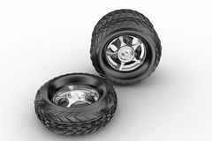 3d tyres Royalty Free Stock Images
