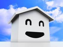 3d uśmiechu domu model Obraz Stock