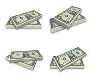 3D U.S. dollars bundle icon. 3D Icon Design Series. Stock Images