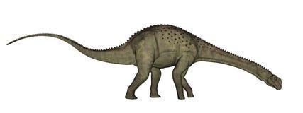 3D Uberabatitandinosaurus - geef terug Stock Afbeeldingen