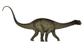 3D Uberabatitandinosaurus - geef terug Royalty-vrije Stock Afbeelding