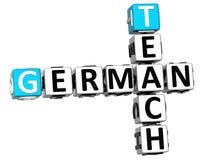 3D Uczą Niemieckiego Crossword Obrazy Royalty Free