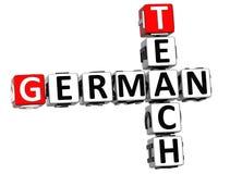 3D Uczą Niemieckiego Crossword Zdjęcia Stock