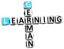 3D uczenie niemiec Crossword Zdjęcie Stock