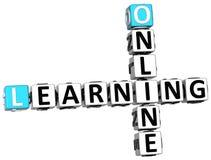 3D uczenie Online Crossword Zdjęcia Stock