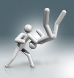 Dżudo 3D symbol, Olimpijscy sporty Obrazy Stock