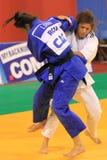 Dżudo - Loredana i Agata Ohai Perenc Fotografia Stock