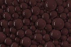 3D udziały czekoladowi bąble royalty ilustracja