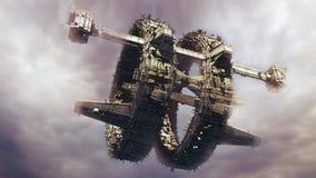 3d UFO Stock Afbeelding