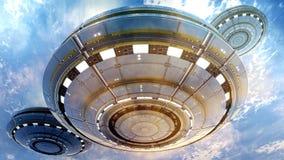 3d UFO Royalty-vrije Stock Afbeelding