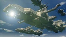 3d UFO Royalty-vrije Stock Fotografie