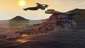 3d UFO Royalty Free Stock Photo
