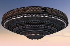 3d UFO. 3d design of a UFO Stock Photo