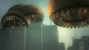 3d UFO i miasto
