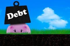 Dług Conccept, kryzys finansowy Obrazy Stock