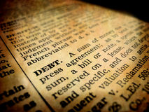 dług definicja Fotografia Royalty Free