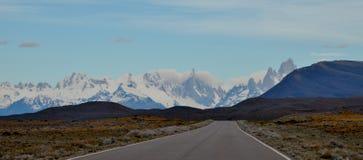 DŁUGA DROGA, lodowiec I GLOBALNY nagrzanie PERITO MORENO W EL CALAFATE PATAGONIA ARGENTYNA, Obrazy Stock