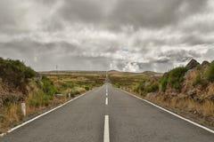 Długa droga na maderze Zdjęcia Stock